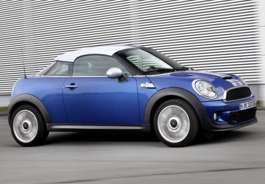 MINI [BMW] coupe niebieski jasny przedni prawy