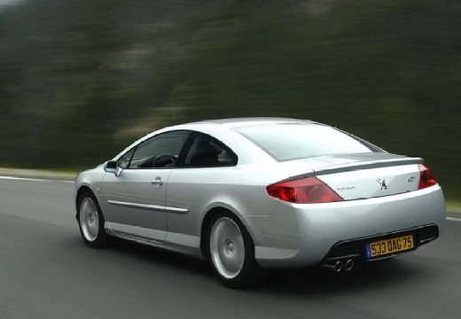 PEUGEOT 407 coupe silver grey tylny lewy