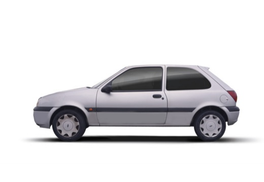 FORD Fiesta IV hatchback silver grey boczny lewy