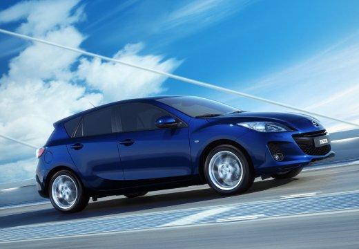 MAZDA 3 IV hatchback niebieski jasny przedni prawy