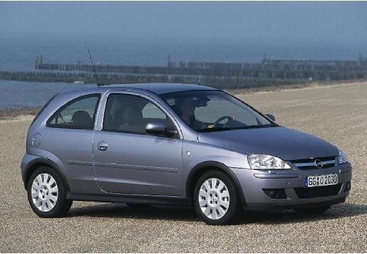 OPEL Corsa C II hatchback silver grey przedni prawy