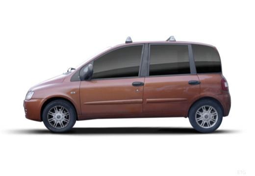 FIAT Multipla II kombi pomarańczowy boczny lewy