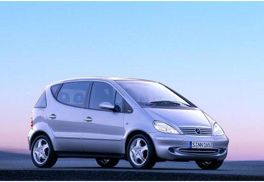 MERCEDES-BENZ Klasa A V 168 hatchback silver grey przedni prawy