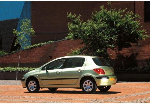PEUGEOT 307 I hatchback zielony jasny tylny lewy
