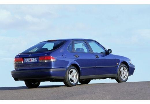 SAAB 9-3 I hatchback niebieski jasny tylny prawy