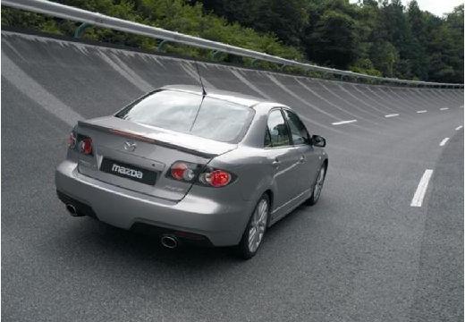 MAZDA 6 II sedan silver grey tylny prawy