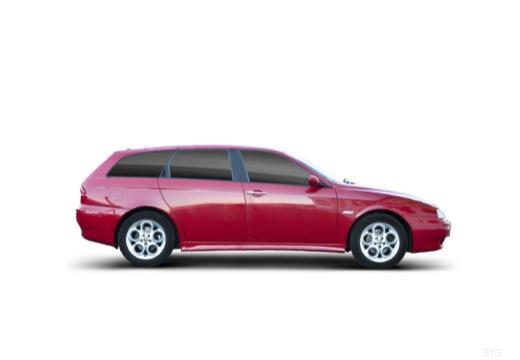 ALFA ROMEO 156 Sportwagon II kombi czerwony jasny boczny prawy