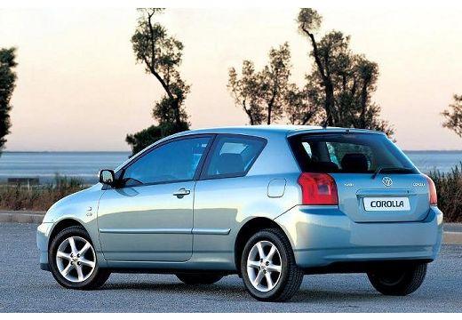 Toyota Corolla VI hatchback niebieski jasny tylny lewy