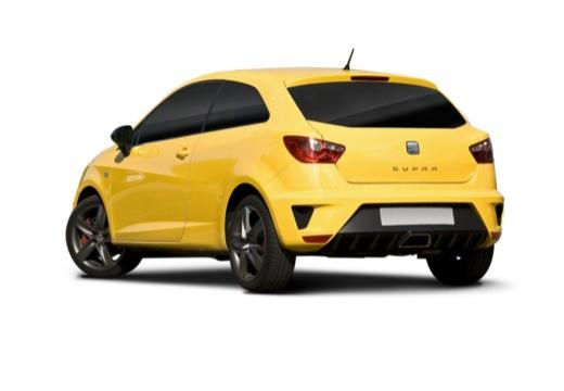 SEAT Ibiza V hatchback żółty tylny lewy