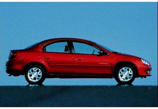 DODGE Neon sedan czerwony jasny boczny prawy