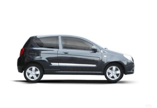 CHEVROLET Aveo II hatchback czarny boczny prawy
