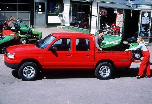 MAZDA B-seria B 2500 I pickup czerwony jasny boczny lewy