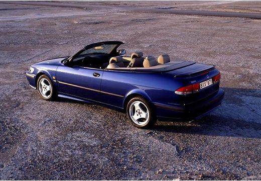 SAAB 9-3 Cabriolet I kabriolet niebieski jasny tylny lewy