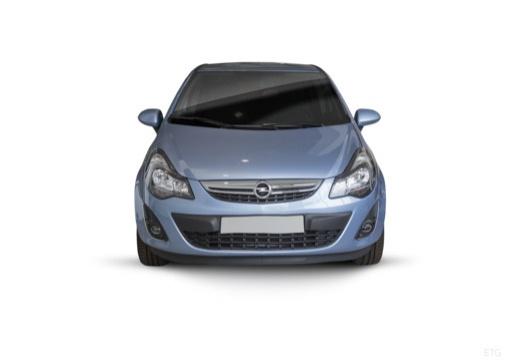 OPEL Corsa D II hatchback niebieski jasny przedni