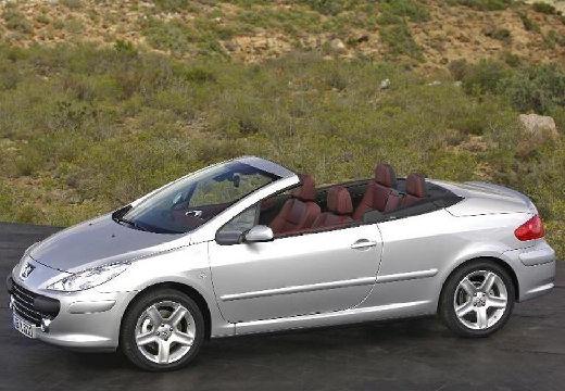 PEUGEOT 307 CC II kabriolet silver grey przedni lewy