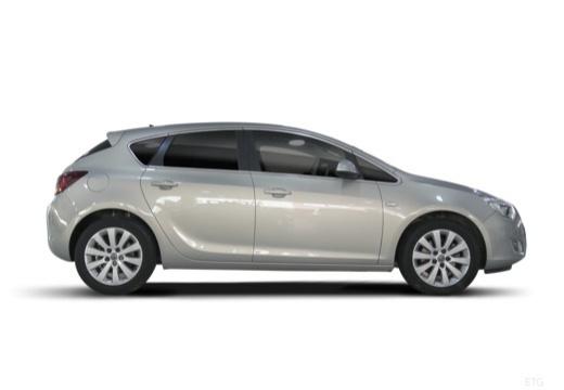 OPEL Astra IV I hatchback silver grey boczny prawy