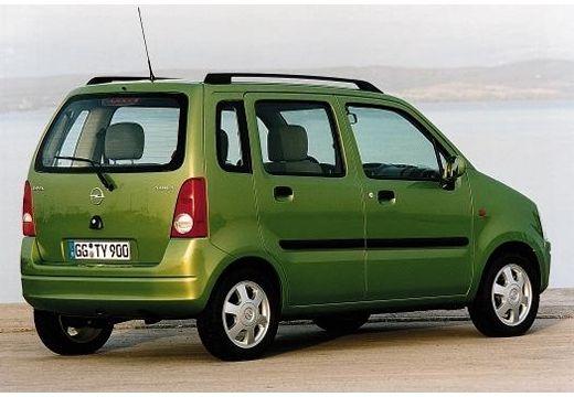 OPEL Agila hatchback zielony tylny prawy