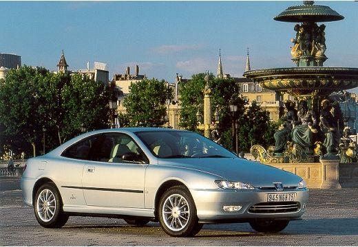 PEUGEOT 406 coupe silver grey przedni prawy