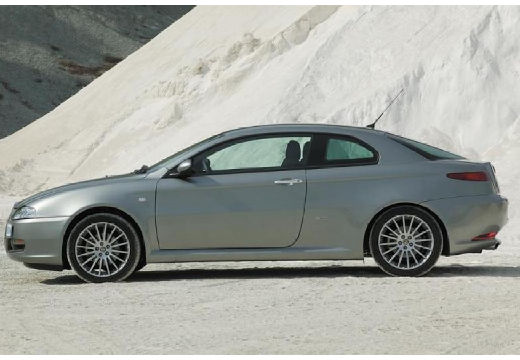 ALFA ROMEO GT coupe silver grey boczny lewy