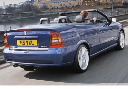OPEL Astra II Cabriolet kabriolet niebieski jasny tylny prawy