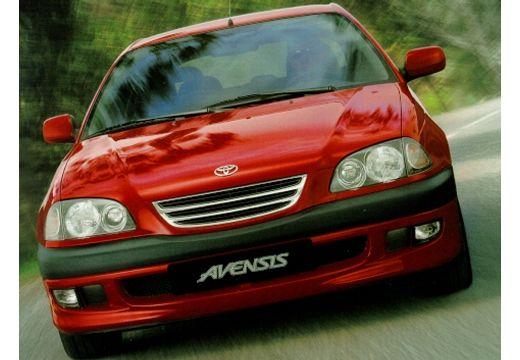 Toyota Avensis sedan czerwony jasny przedni