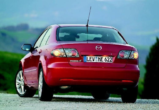 MAZDA 6 II sedan czerwony jasny tylny lewy
