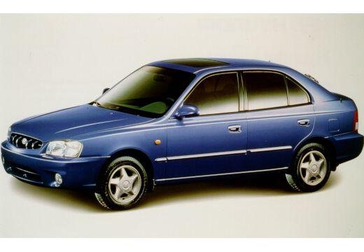 HYUNDAI Accent II hatchback niebieski jasny przedni lewy