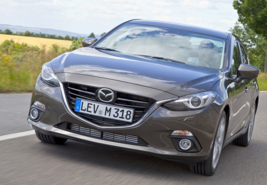 MAZDA 3 V sedan silver grey przedni lewy