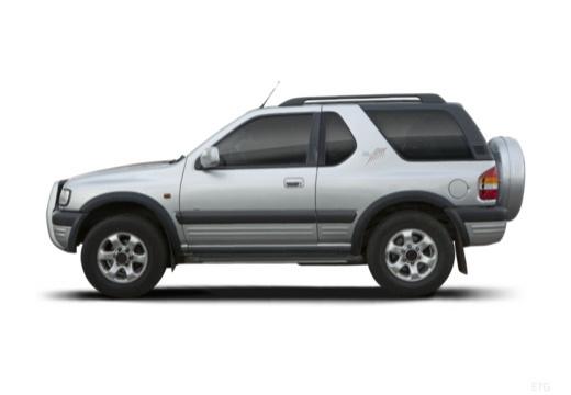 OPEL Frontera Kombi III hardtop silver grey boczny lewy