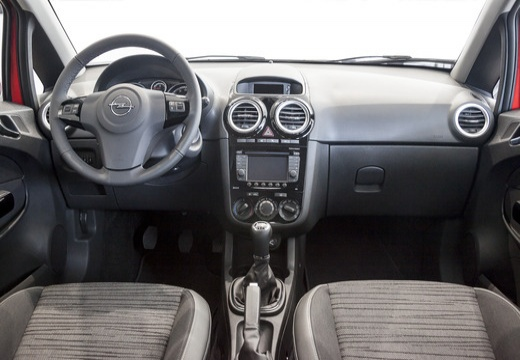 OPEL Corsa D II hatchback czerwony jasny tablica rozdzielcza