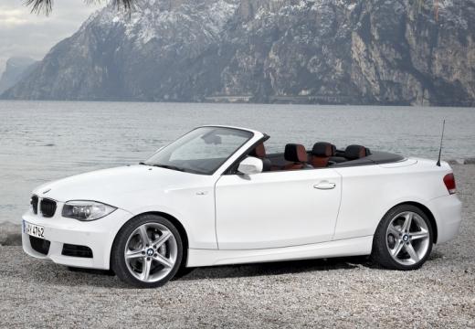 BMW Seria 1 kabriolet biały przedni lewy