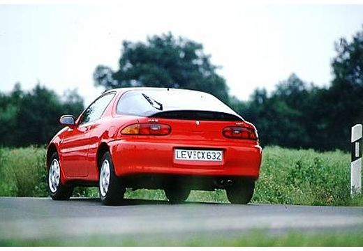 MAZDA MX-3 coupe czerwony jasny tylny lewy