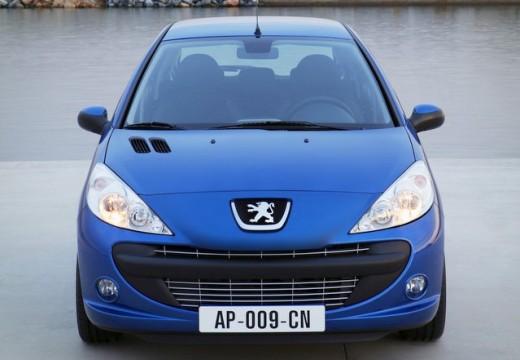 PEUGEOT 206+ hatchback niebieski jasny przedni