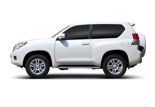 Toyota Land Cruiser 150 I kombi biały boczny lewy