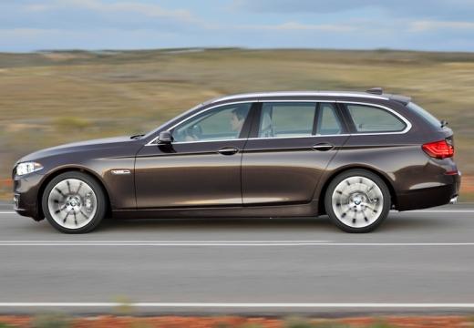 BMW Seria 5 kombi brązowy boczny lewy