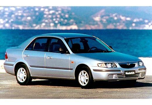 MAZDA 626 hatchback silver grey przedni prawy