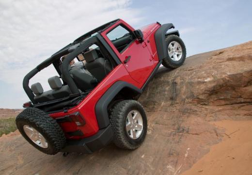 JEEP Wrangler III soft top czerwony jasny tylny prawy