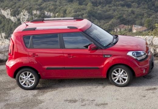 KIA Soul II hatchback czerwony jasny boczny prawy