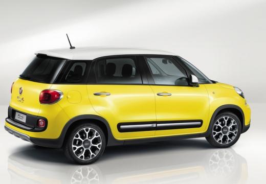 FIAT 500 L I hatchback żółty tylny prawy
