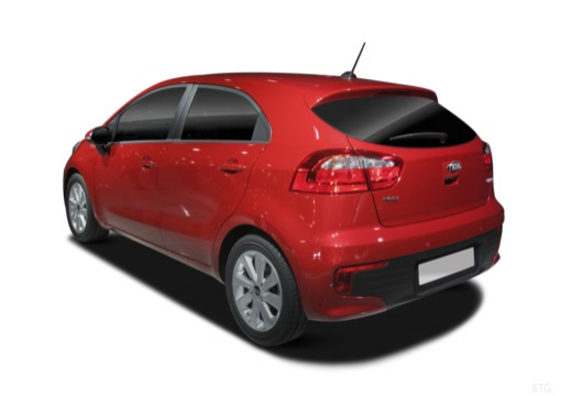 KIA Rio VII hatchback czerwony jasny tylny lewy