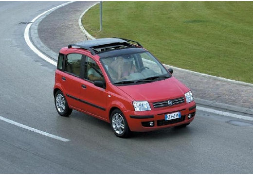 FIAT Panda II hatchback czerwony jasny przedni lewy