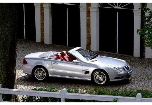 MERCEDES-BENZ Klasa SL SL 230 I roadster silver grey przedni prawy