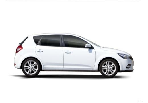 KIA Ceed II hatchback biały boczny prawy