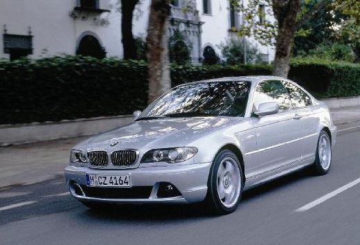 BMW Seria 3 coupe silver grey przedni lewy