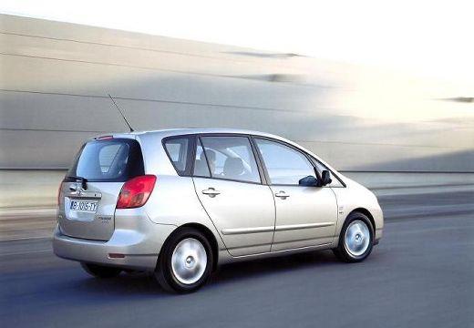 Toyota Corolla Verso I kombi mpv silver grey tylny prawy