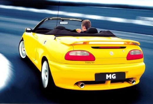 MG F I roadster żółty tylny lewy