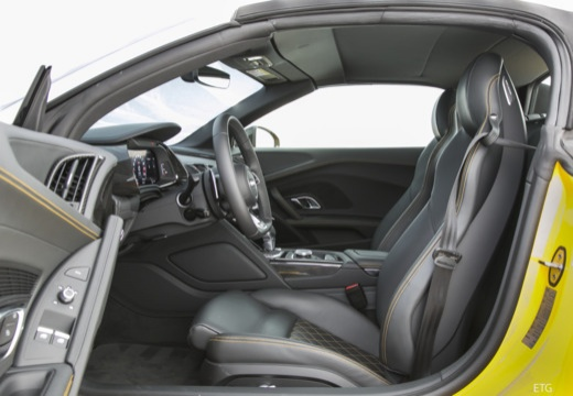 AUDI R8 roadster żółty wnętrze