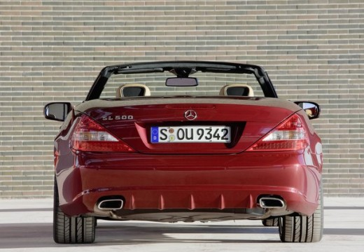 MERCEDES-BENZ Klasa SL roadster czerwony jasny tylny