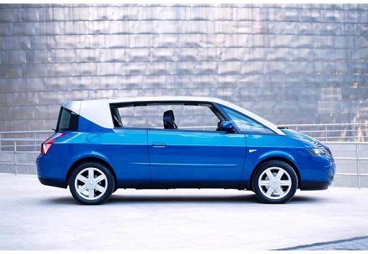 RENAULT Avantime hatchback niebieski jasny boczny prawy