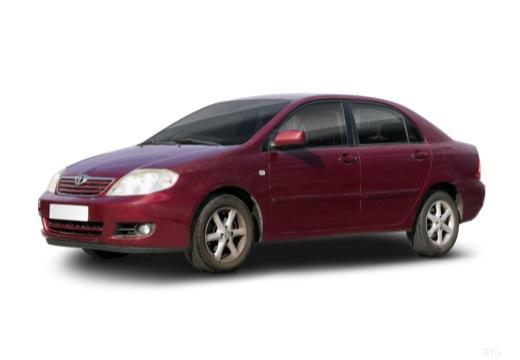 Toyota Corolla VII sedan czerwony jasny przedni lewy